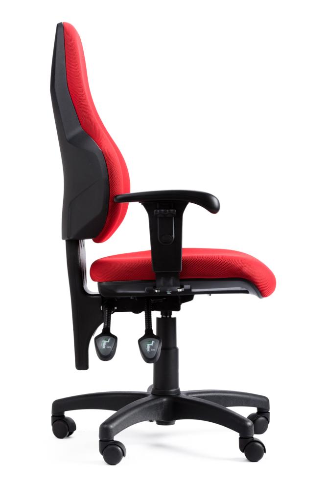 כסא מזכירה אדום יפהפה